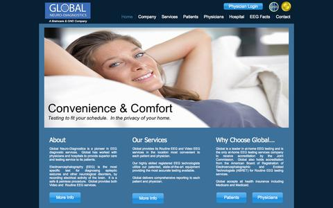 Screenshot of Home Page globalneuro.net - Global Neuro-Diagnostics - captured Oct. 3, 2014