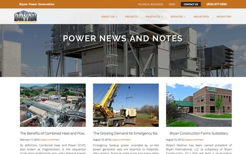 Screenshot of Press Page bryan-power.com - Power News & Notes - captured Nov. 23, 2016