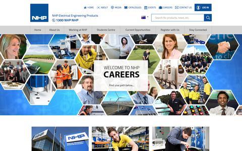 Screenshot of Jobs Page nhp.com.au - Careers at NHP - captured July 5, 2017