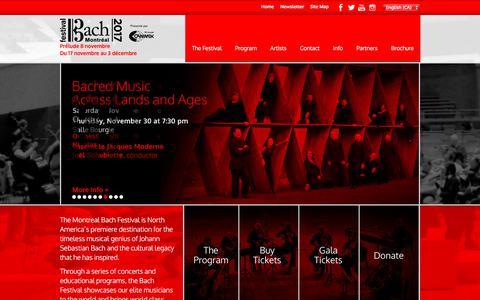 Screenshot of Home Page festivalbachmontreal.com - Home   Montreal Bach Festival 2017 - captured Oct. 13, 2017