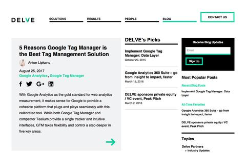Delve Partners Blog: Delve Deeper into Your Data with Delve Partners | Delve