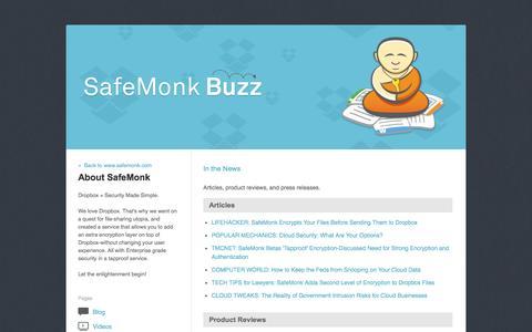 Screenshot of Press Page safemonk.com - SafeMonk Buzz - captured Sept. 30, 2014