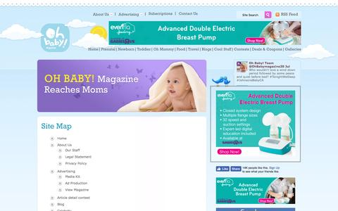 Screenshot of Site Map Page ohbabymagazine.com - Sitemap | Parenting Tips, News & Information- Oh Baby Magazine Canada - captured Nov. 7, 2016