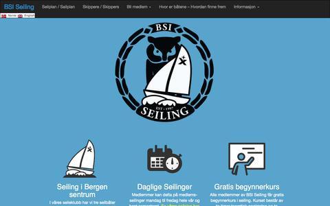 Screenshot of Home Page bsiseiling.no - BSI Seiling   Seileklubb i Bergen - captured Sept. 30, 2014