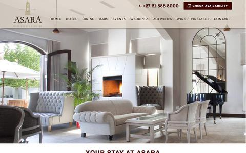 Screenshot of Terms Page asara.co.za - Asara Terms and Conditions   Hotel Stellenbosh, South Africa - captured June 25, 2017