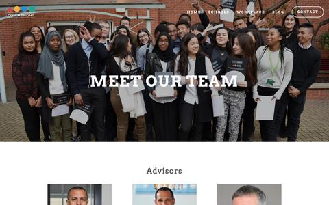 Screenshot of Team Page coachbright.org - Team — CoachBright - captured July 19, 2018