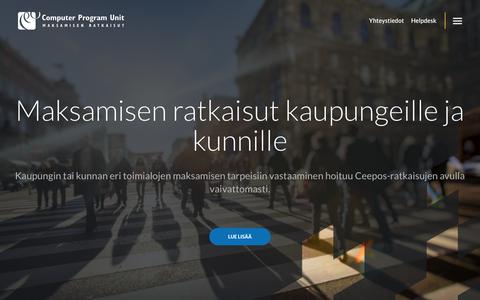 Screenshot of Home Page cpu.fi - Etusivu - CPU - captured Sept. 29, 2018