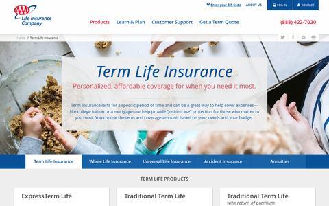 Term Life Insurance - AAA Life Insurance Company