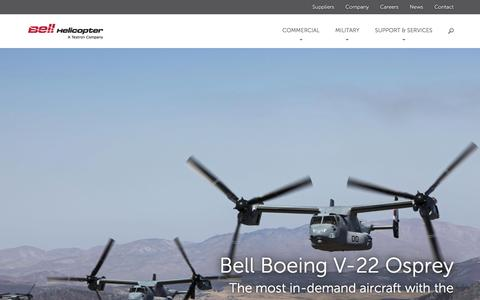 Screenshot of Home Page bellhelicopter.com - Bell Helicopter - captured Feb. 7, 2016