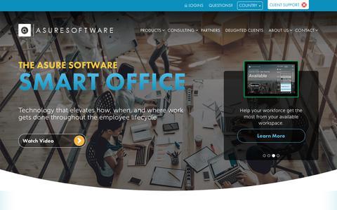 Screenshot of Home Page asuresoftware.com - Workforce & Workspace Management Software - Asure Software - captured Feb. 9, 2019