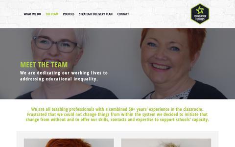 Screenshot of Team Page foundationfutures.org.uk - The team – Foundation Futures - captured Nov. 6, 2018