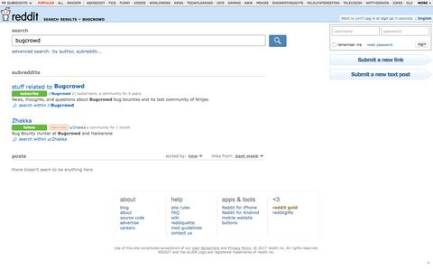 reddit.com: search results - bugcrowd