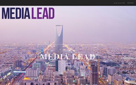 Screenshot of Home Page media-lead.net - Media Lead | Stand out Be You & Let us Take the Lead - captured Feb. 12, 2016