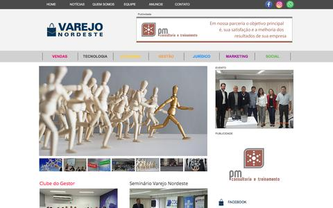 Screenshot of Home Page varejonordeste.com.br - Varejo Nordeste | Seu Portal de Conteúdo sobre o Varejo da Região - captured April 26, 2018