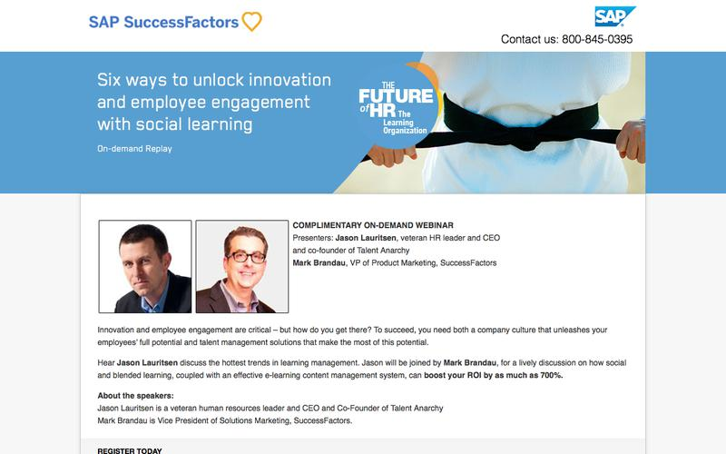 Six ways to unlock innovation and employee engagement with social learning             | SuccessFactors