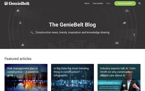 Screenshot of Blog geniebelt.com - GenieBelt Blog - captured Sept. 16, 2018