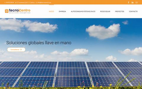 Screenshot of Home Page tecnocentro.es - Tecnocentro | Autoconsumo Fotovoltaico y Riego Solar - captured Nov. 8, 2017