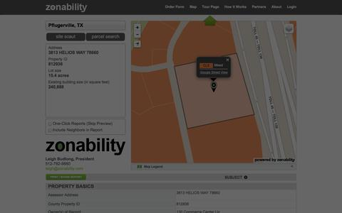Screenshot of Maps & Directions Page zonability.com - Zonability.com | Zoning Report - captured Nov. 3, 2014