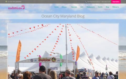 Screenshot of Blog ocmdhotels.com - Ocean City Blog, Ocean City Maryland - captured Oct. 28, 2016