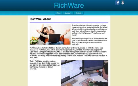 Screenshot of Services Page richware.net - RichWare - captured June 18, 2017