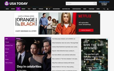Screenshot of Team Page usatoday.com - Celebrity Photos, Videos and Interviews - USATODAY.com - captured Dec. 16, 2015