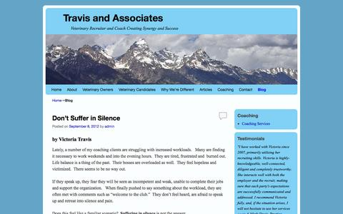 Screenshot of Blog travisandassociates.com - Blog - Travis and Associates - captured Oct. 7, 2014