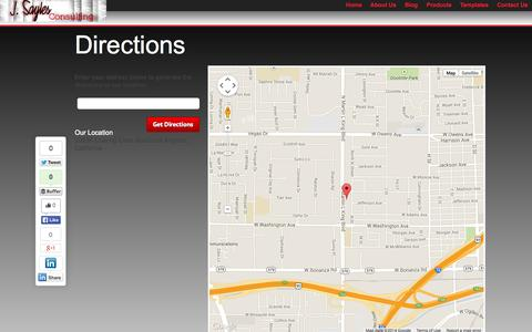 Screenshot of Maps & Directions Page jsaylesconsulting.com - Directions | J Sayles Consulting - captured Sept. 30, 2014