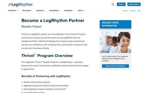 Become a Partner | LogRhythm