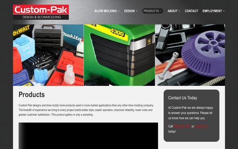 Screenshot of Products Page custom-pak.com - Products – Custom-Pak, Inc. - captured Aug. 23, 2018