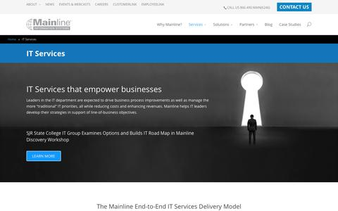 Screenshot of Services Page mainline.com - IT Services - Mainline - captured Feb. 4, 2016