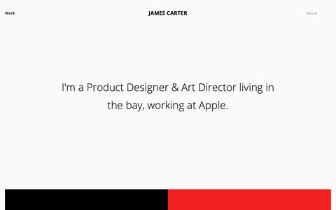 Screenshot of Home Page itsjamescarter.com - James Carter - captured Sept. 29, 2018