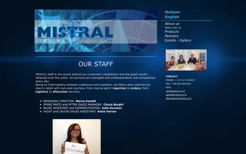 Screenshot of About Page srl-mistral.it - About us - Benvenuti da Mistral SRL a Genova - captured Oct. 7, 2014