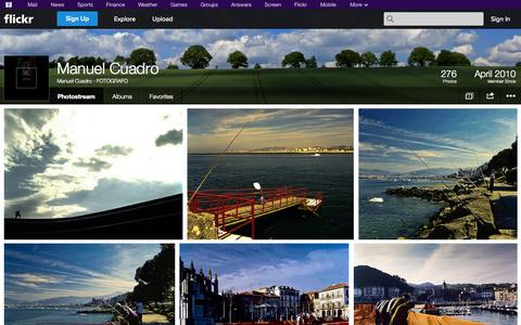 Screenshot of Flickr Page flickr.com - Flickr: Manuel Cuadro - FOTOGRAFO's Photostream - captured Oct. 23, 2014