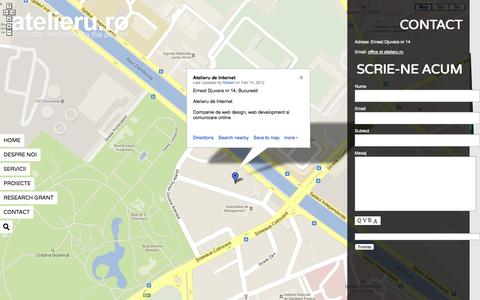 Screenshot of Contact Page atelieru.ro - Atelieru ,  Contact - captured Oct. 4, 2014