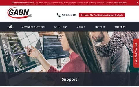 Screenshot of Support Page gabn.net - gabn - Support - GABN : GABN - captured July 2, 2018