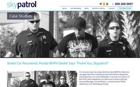 Screenshot of Case Studies Page skypatrol.com - Case Studies | Skypatrol - GPS TRACKING SOLUTIONS - captured Nov. 21, 2016