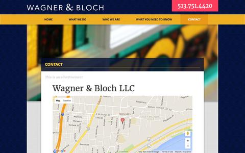 Screenshot of Contact Page wagnerandbloch.com - Contact Wagner and Bloch LLC - captured Feb. 17, 2016