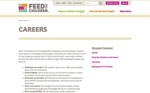 Screenshot of Jobs Page feedthechildren.org - Careers   Feed the Children - captured Sept. 23, 2014