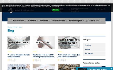 Screenshot of Blog reduction-impots.fr - Actualités fiscales, réduction d'impôts, conseils financiers - captured Oct. 2, 2018