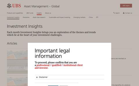 Screenshot of Team Page ubs.com - Investment Insights | UBS Global topics - captured Nov. 14, 2019