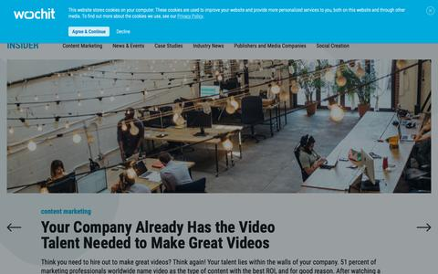 Screenshot of Blog wochit.com - The Social Video Blog | Wochit | Video Creation Platform - captured Nov. 12, 2018