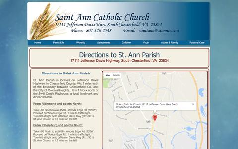 Screenshot of Maps & Directions Page stanncc.com - stannparish | Directions - captured Dec. 1, 2016