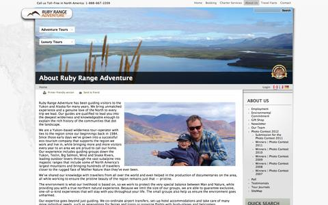 Screenshot of About Page rubyrange.com - About Ruby Range Adventure | Ruby Range Adventure - captured Oct. 6, 2014