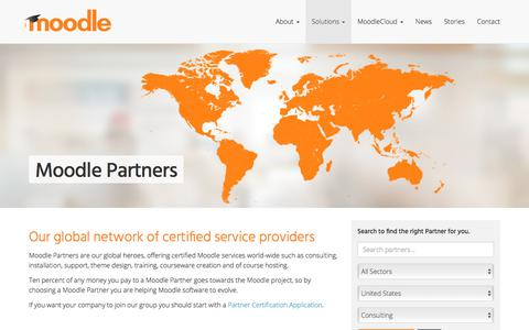 Moodle Partners • Global Certified Service Providers • Moodle
