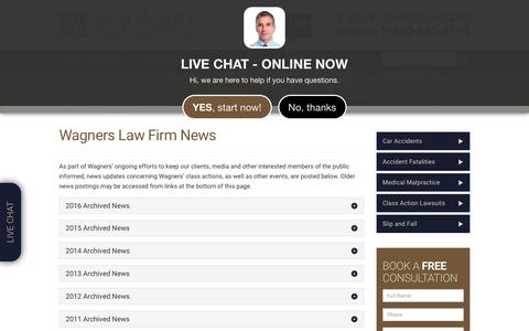 Screenshot of Press Page wagners.co - Nova Scotia Injury Lawyer | Wagners Law Firm News | Halifax Accident Lawyer - captured Oct. 15, 2018