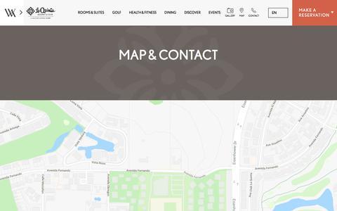 Screenshot of Contact Page Maps & Directions Page laquintaresort.com - Map & Contact | La Quinta Resort & Club - captured Sept. 22, 2018