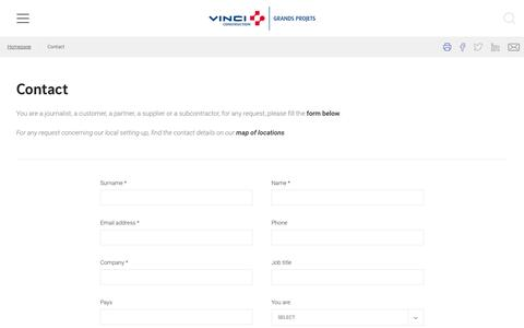 Screenshot of Contact Page vinci-construction-projets.com - Contact - VINCI Construction Grands Projets - captured April 23, 2017