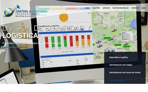 Screenshot of Home Page controlymonitoreo.com - Control y Monitoreo Internacional » Control y Monitoreo Internacional - captured Sept. 19, 2015