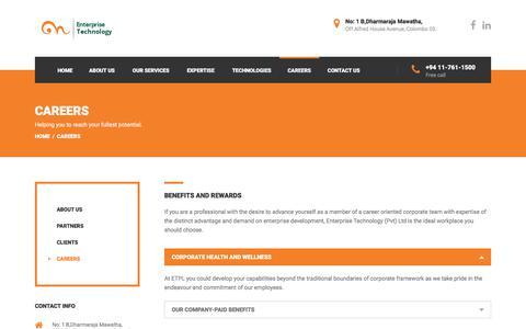 Screenshot of Jobs Page enterprisetl.com - Careers | Enterprise Technology | - captured Aug. 10, 2017