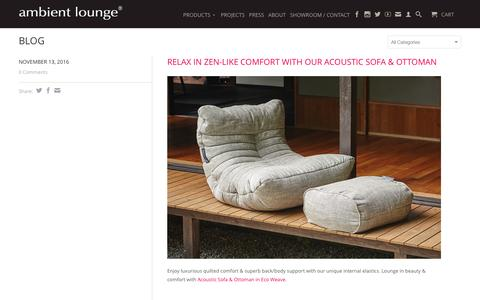 Screenshot of Blog ambientlounge.sg - Bean Bag Blog | Bean Bag Sofas for Smart Modern Living | Ambient Lounge Singapore (Southeast Asia) - captured Nov. 20, 2016